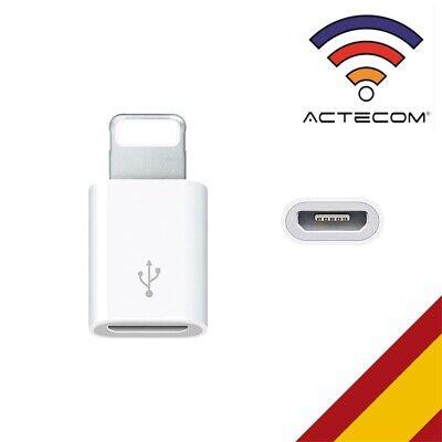 ACTECOM® ADAPTADOR CABLE MICRO USB COMPATIBLE CON LIGHTNING IPHONE 7 8 X...