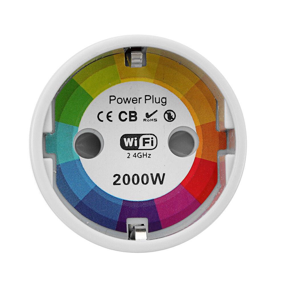 EU Standard Smart Wifi Socket Power Plug Mobile APP Remote Control Work With Ale