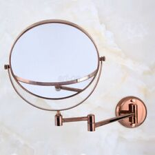 Rose Gold Brass Folding Dual Arm Extend Bathroom Mirror ...