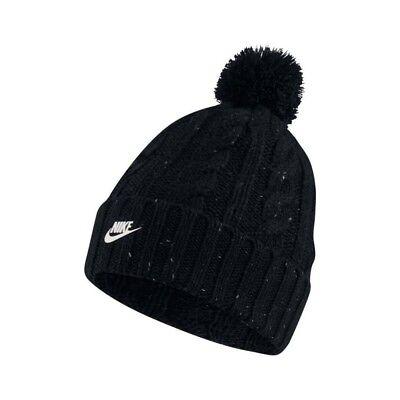 925422-010 Nike Womens Knit Beanie Skully Black/Cool Grey/Metallic Silver ()
