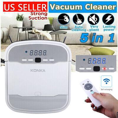 KONKA 5IN1 Smart Robot Vacuum Cleaner Auto Cleaning Microfib