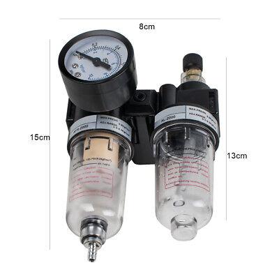 Air Pressure Regulator Oil Water Separator New Trap Filter Airbrush Compressor