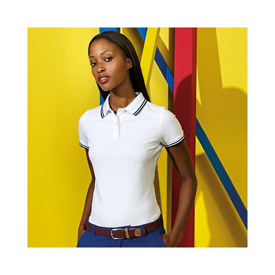 Asquith & Fox Womens Classic Fit Tipped Polo Shirt