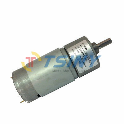 12vdc 100rpm Pmdc Spur Gear Motor With Gearbox Gear Reducer 37mm Diameter