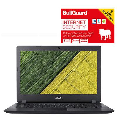 "Laptop Windows - Acer Aspire ES11 Laptop 11.6"" 2Gb 32G Celeron Windows 10 Black With BullGuard"