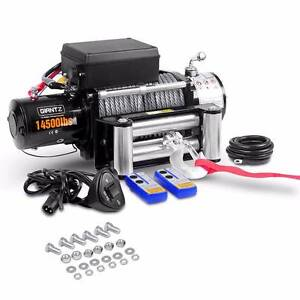 Electric 4x4 Winch 14500lbs Heavy Duty 24m Cable Remotes Kings Beach Caloundra Area Preview