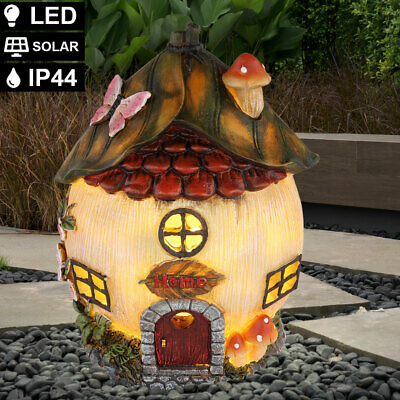 LED Solar Außen Lampe Deko Häuschen Garten Design Außen Hof Balkon Steh Leuchte