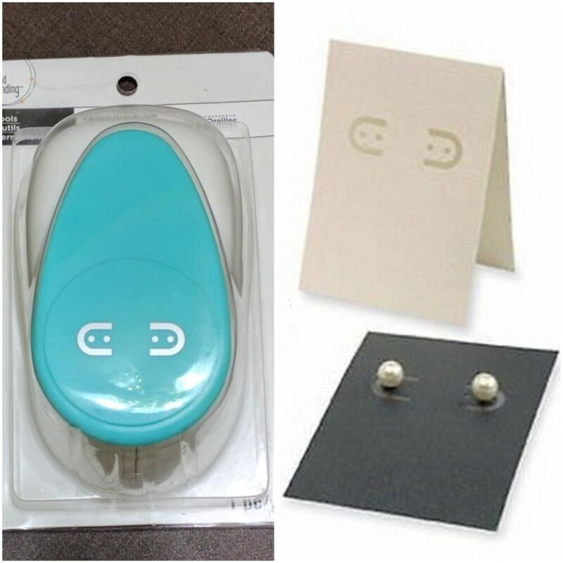 New BEAD LANDING Punch Tools Make Your Own Cards Earring DIY Display Card