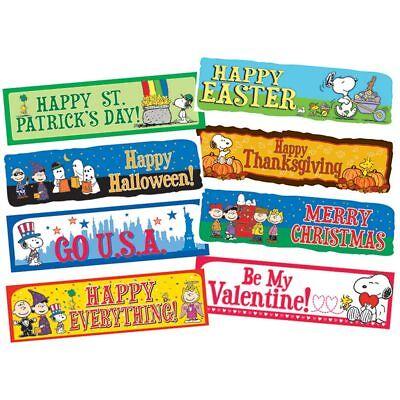 Peanuts Year Of Holidays Mini Bulletin Board Set Eureka - Holidays Bulletin Board Set