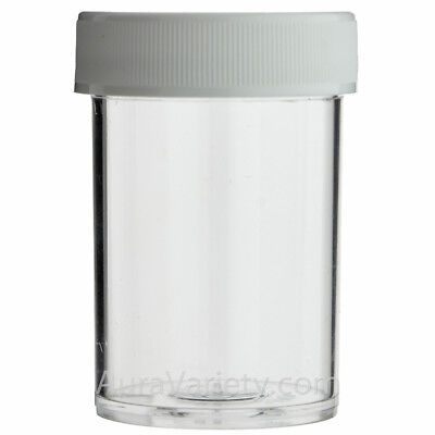 1 Oz Plastic Jar (1 OZ CLEAR ROUND WIDE-MOUTH PLASTIC JAR WITH WHITE SCREW CAP 12 24 72 144)