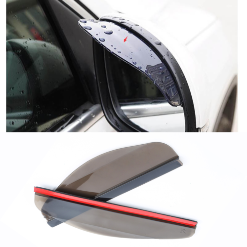 Universal Car Rear View Side Mirror Rain Board Black Sun Visor Shade Shield 2PCS