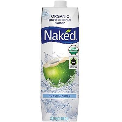 Naked-Fair Trade Organic Coconut Water (12-33.8 oz boxes)