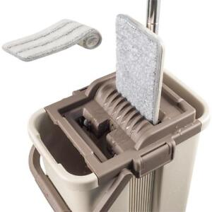 NEW CleanWise Self-Wash and Squeeze Dry Flat Mop  Bucket Kit Condition: New