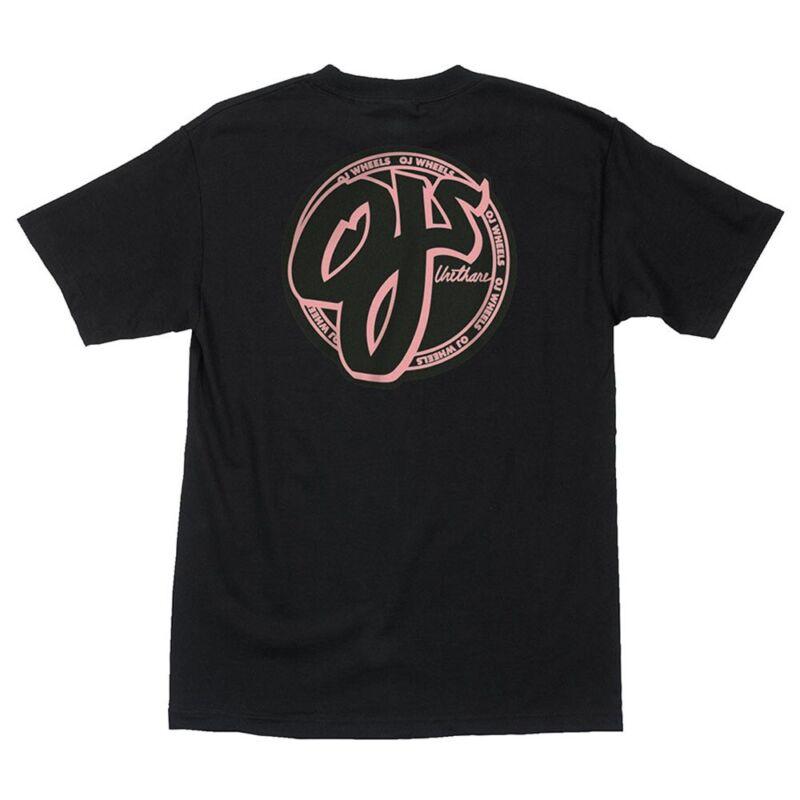 Santa Cruz OJs PINK LOGO Skateboard T Shirt BLACK LARGE