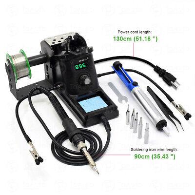 Rework Digital Soldering Station Desoldering Equipment Stand Welding Tools 110v