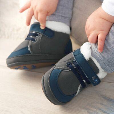 Sterntaler Baby Schuh Jungen Größe 19/20 eisengrau Kinder Winter Shoes Schuhe