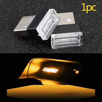 1PC Mini USB Yellow LED Light Car Interior Light Neon Atmosphere Ambient Lamp for sale  Shipping to Canada