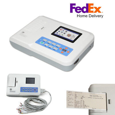 Fda 3 Channel 12 Lead Ecgekg Machine Electrocardiograph Ecg300g Usbpc Software