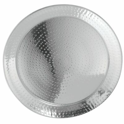 """HUBERT Serving Tray With Hammered Finish Round - 20""""Dia"""