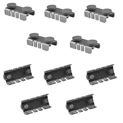 100pc Center Shelf Rest Clips Rubber Cushions To Hang Glass Wood Metal Shelves