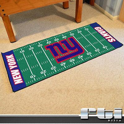 Nfl Football Mat - New York Giants NFL Football Field Runner Floor Door Mat Rug Carpet 30