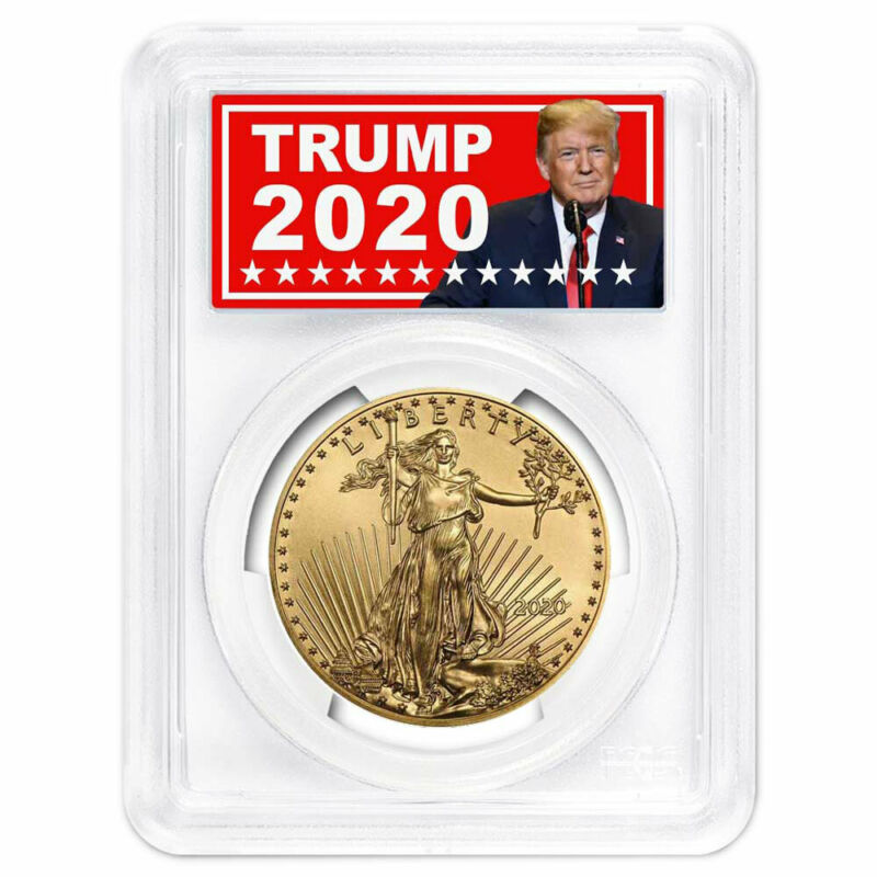2020 $50 American Gold Eagle 1 oz. PCGS MS70 FS Trump 2020 Label