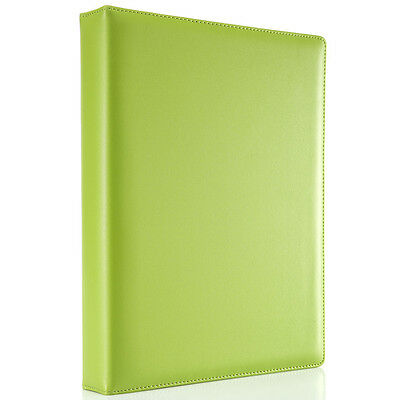 Durable Leather A4 Padfolio 4 Ring Binders Files Folder Portfolio With Pockects
