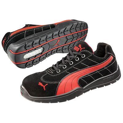 Puma Safety Shoes Silverstone Low S1p Hro Src, Puma 642630-210-42 Herren Sicherheitsschuhe, Schwarz (Schwarzrot 210), Eu 42
