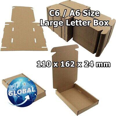 ROYAL MAIL BROWN LARGE LETTER CARDBOARD POSTAL MAILING BOX C6 / A6 25pcs FREE PP