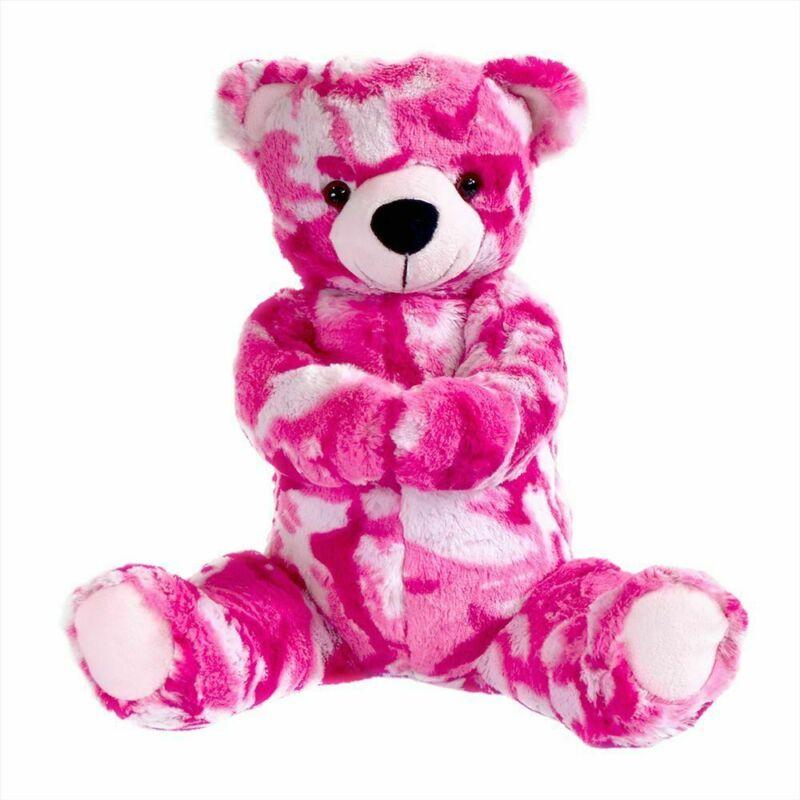 Pink Camo 12in Teddy Bear