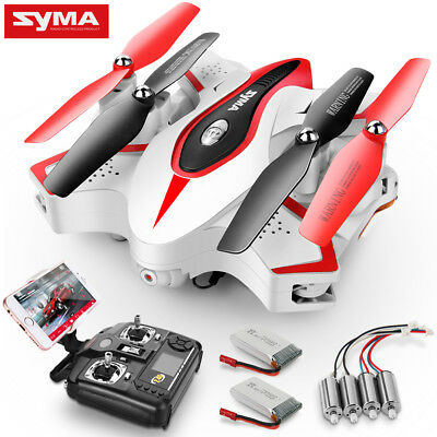 Syma X56W Foldable HD Camera Drone Wifi FPV RC Quadcopter 2 Batteries Xmas Gift