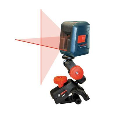 Bosch 30 Ft. Self Leveling Cross-line Laser Level With Clamping Mount