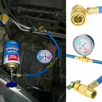 Car Vehicle Air Conditioning Refrigerant Recharge Kit A/C r134a Hose Gas Gauge~