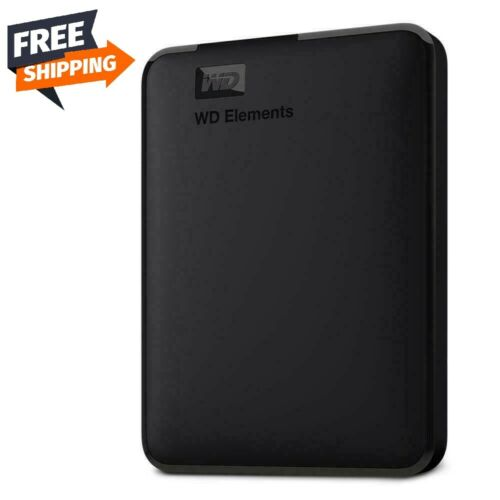 Western Digital WD Elements 2TB External Hard Drive USB 3.0 Portable - Black