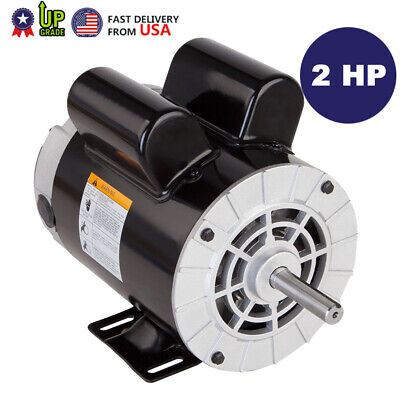 2 Hp Spl Compressor Duty Electric Motor 3450 Rpm 56 Frame 58 Shaft 120240v Aa