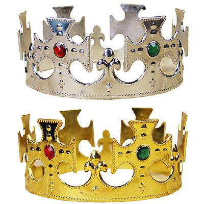 Kids Halloween Royal King Plastic Crown Prince Costume Accessory Random Color