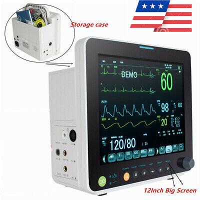 Vital Signs Monitor Cardiac Patient Monitor Ecg Nibp Resp Temp Spo2 Pr Alarm