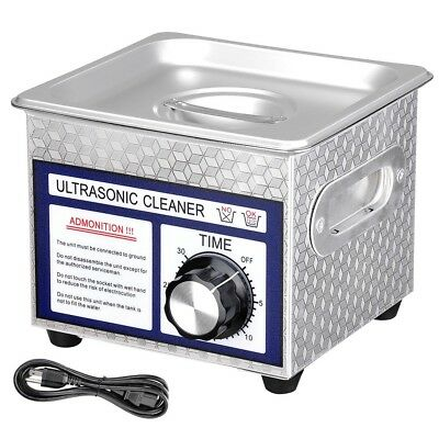 1.3l13 Gallon 60 Ultrasonic Cleaner W Timer Jewelry Glasses Tattoo Dental