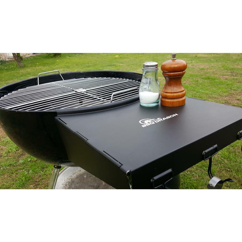Bbq Side Table.Details About Dragon Wing Folding Grill Shelf Weber Bbq Side Table Steel Charcoal Grills Fits