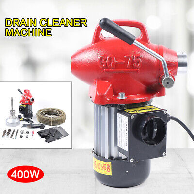 400w Drain Cleaner Electric Drain Cleaning Machine Pipe Drain Spirals Cleaner