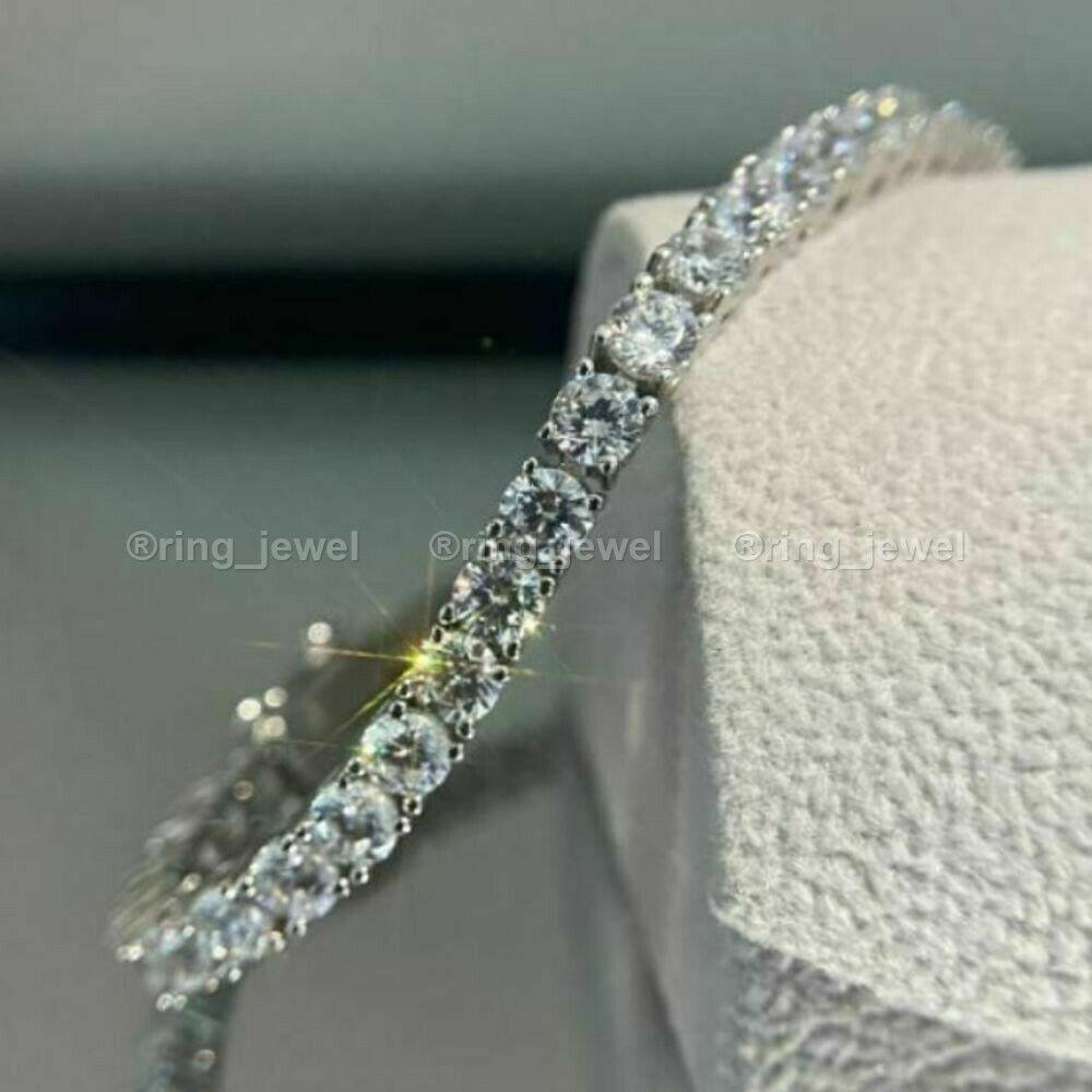 Solid 14K White Gold Diamond Tennis Bracelet Certified 12.ct  Ct 2 bracelet