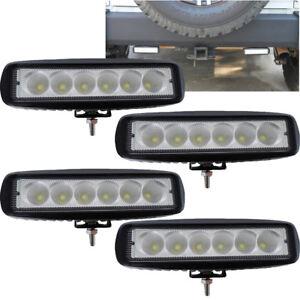 6 led light bar ebay 4x 7inch 72w cree led work light bar flood offroad atv fog truck lamp 4wd 12v 6 aloadofball Gallery