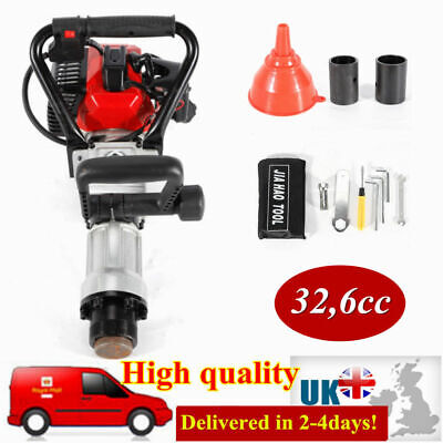 Gasoline Powered Fence Post Driver Push Pile Engine Tool 2 Stroke 32.6cc 900W UK