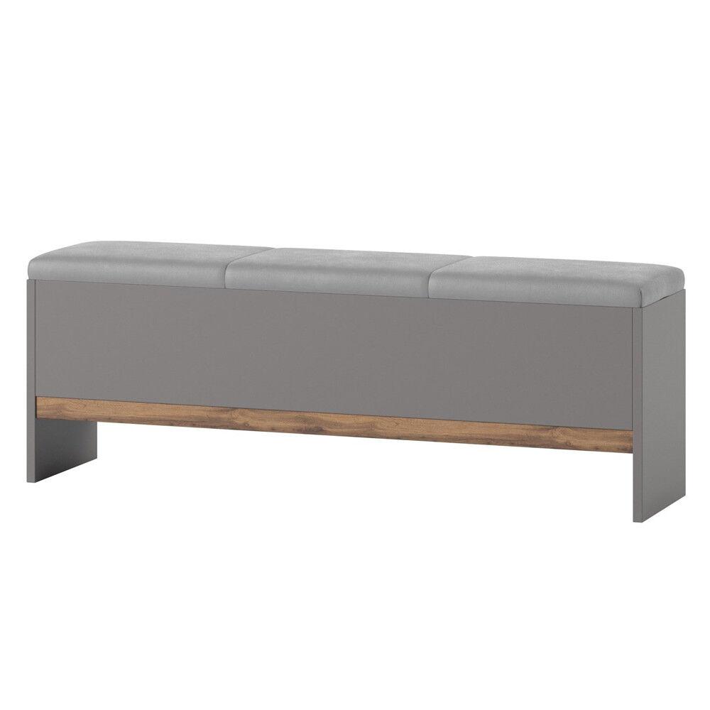 Panca imbottita 2 finiture per camera da letto Mod. Lester 65 cm L165xH47xP35