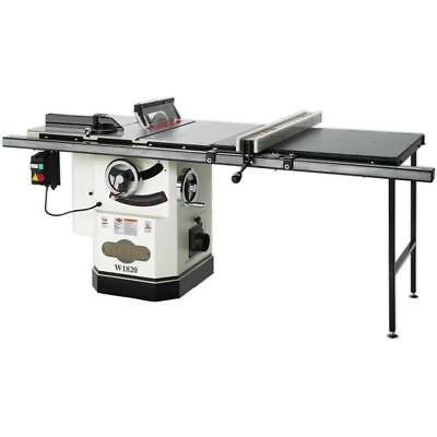 "W1820 10"" 3 HP Cabinet Tablesaw with Riving Knife and Long Rails- Free Accessory for sale  Macon"