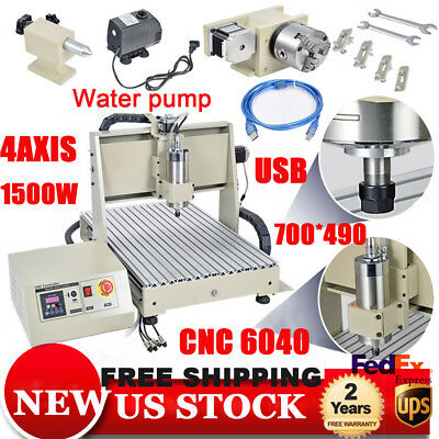 1.5kw 4axis Usb Cnc Router 6040 Engraver Machine Milling Drilling Woodworkingrc