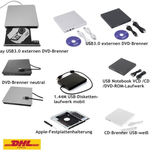 CD DVD RW Brenner Slim USB extern Laufwerk CD Brenner Notebook Laptop Netbook wa