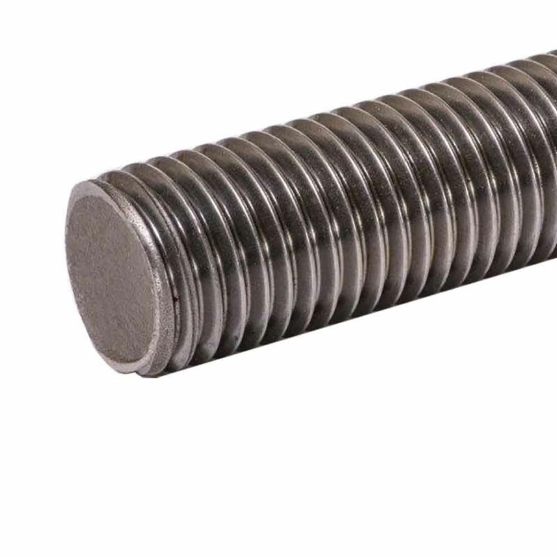 Zinc Plated Steel Threaded Rod, Size: 5/8-11, Length: 72 inches, (5 Pack)