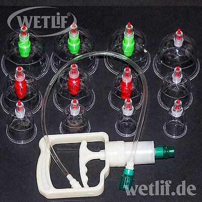 Schröpfen Massage Set 12 St. Akupunktur Cupping Vakuum Massage Schröpfgläser