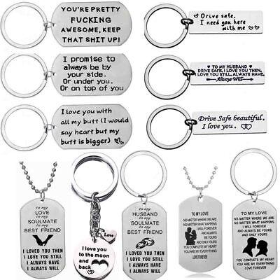 Boyfriend Girlfriend Gifts Keyring Heart Anniversary Valentines Gift For Him Her ()